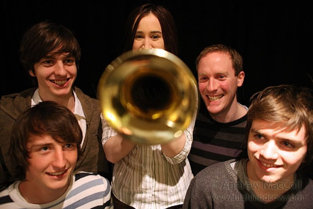 yellow bentines Bell End. #bellend #trumpet #yellowbentines #bandpic #laughing #trumpetplayer #scottishband #glasgowband #music #listentoourmusic #promo
