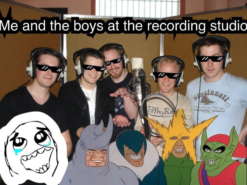 yellow bentines me and the boys at the recording studio #yellowbentines #recording #scottishband #scottishmusic #recordingstudio #gravitystudiosglasgow #meme #coolaf #bestband #scottish #yb #whybee #memeglasses #meandtheboys