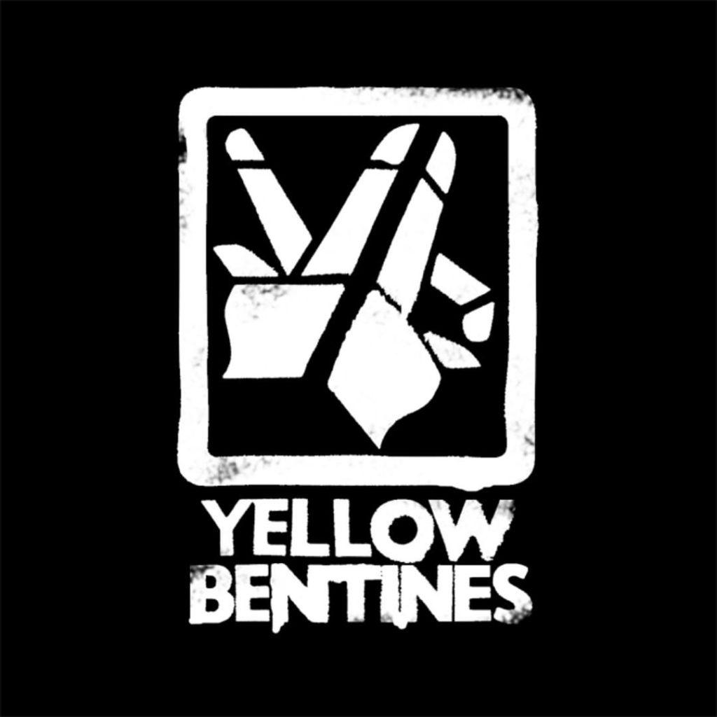 yellow bentines #bandlogo #yellowbentines #scottishband #scottishmusic #glasgowband #glasgowmusic #glasgowmusicscene #spraypaint #blackandwhite #yellowpages #logo #ripoff #hands