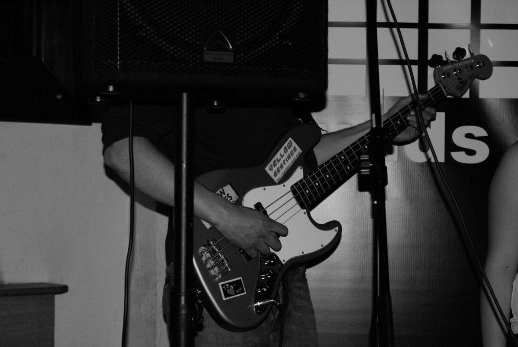 yellow bentines Who's the Bass? #bassist #bass #bassguitar #yellowbentines #scottishband #live #livemusic #stickers #instrument #beanscene #blackandwhite